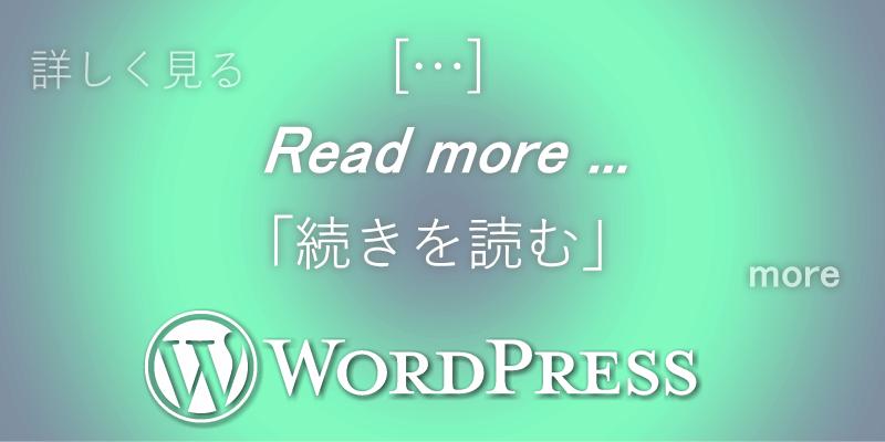 抜粋の[...]や「続きを読む」をfunctions.phpで変更する方法【WordPress】